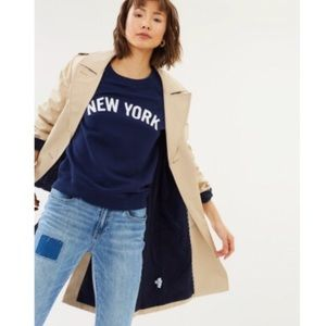 j crew new york navy crewneck sweatshirt xs